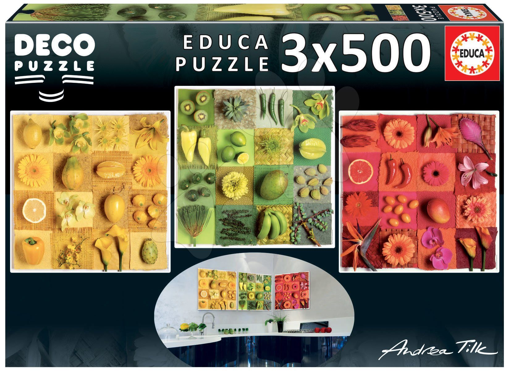 Puzzle Andrea Tilk: Exotic fruits and flowers image 2