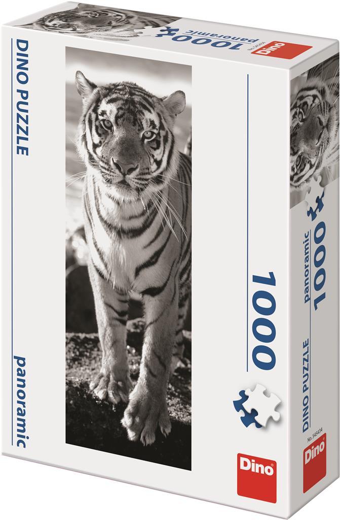 Puzzle Tiger schwarz und weiß image 2