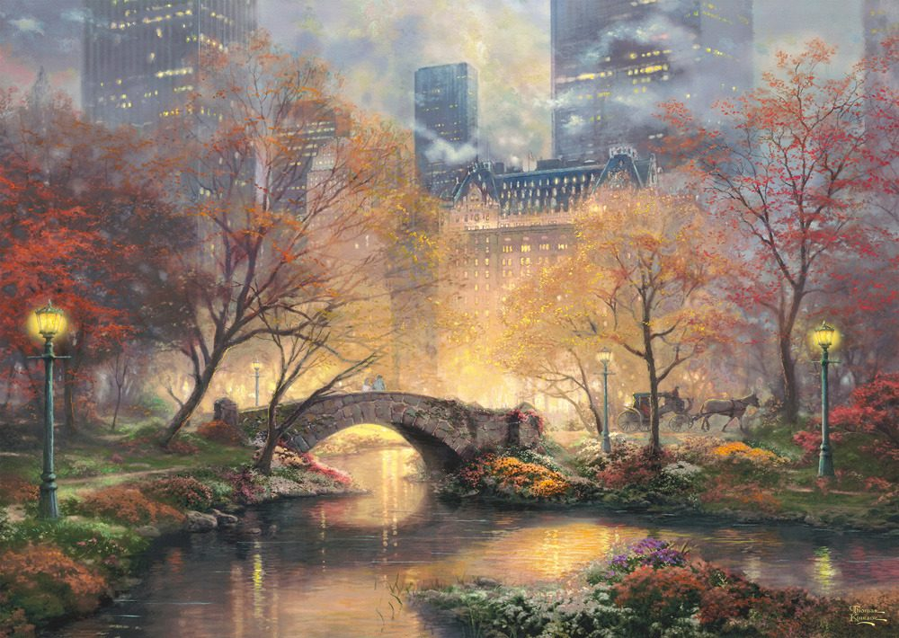 Puzzle Kinkade: Central Park in the Fall image 2