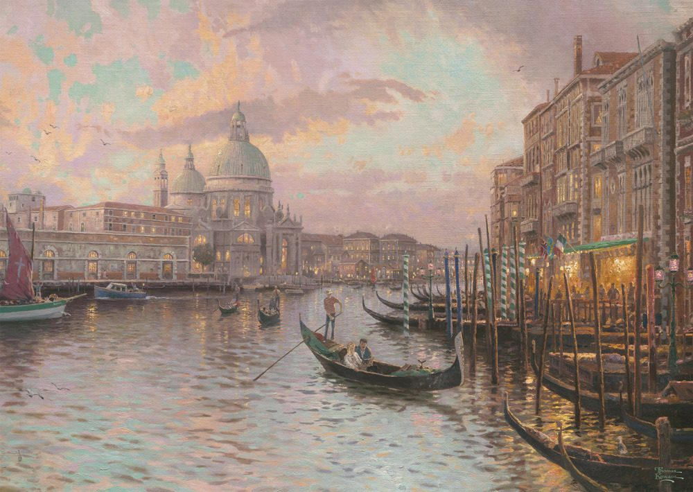 Puzzle Kinkade: In the streets of Venice image 2