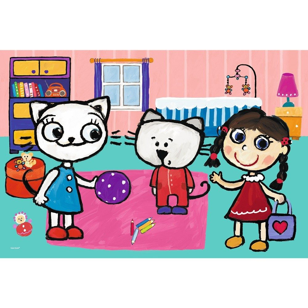 Puzzle Kitty Cat with friends image 2