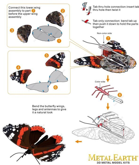Puzzle Butterfly Red Admiral image 2