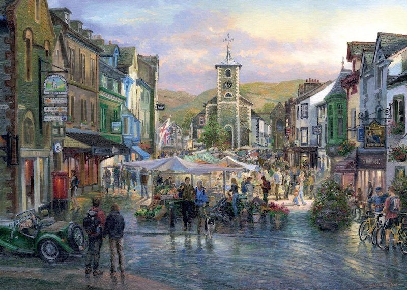 Puzzle Coniston, Cumbria a trhy v Keswicku image 2