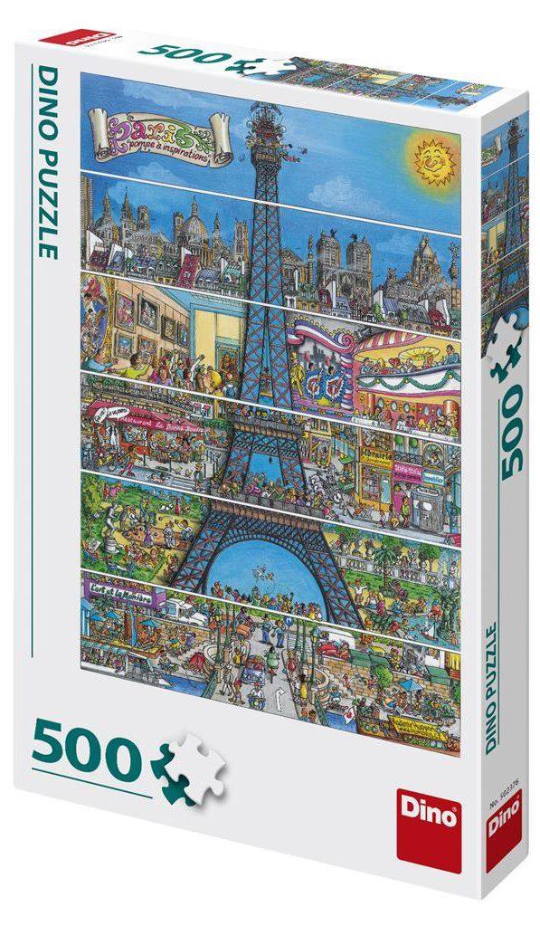 Puzzle Eiffel tower cartoon image 2