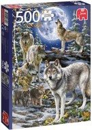 Puzzle Wolf pack in winter