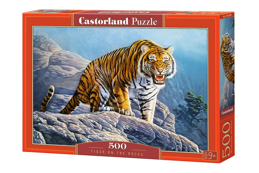 Puzzle Tiger on the Rocks image 2